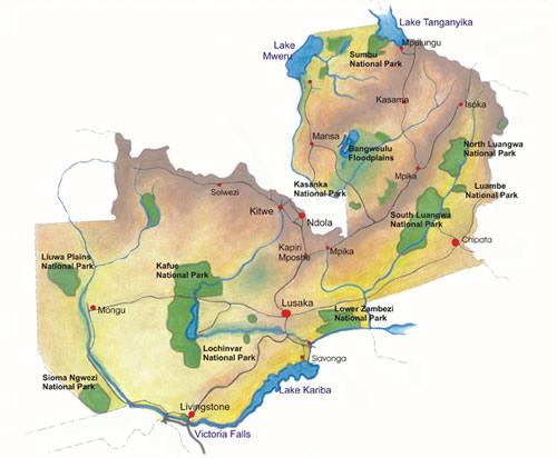 Zambia A Country Background - Zambia time zone map