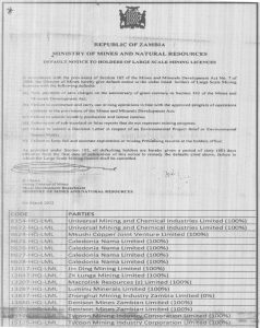 Ministry of Mines and Natural Resources Notice- Part 3